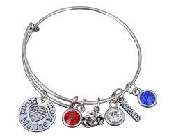 amazon com us marine corps mom bracelet proud marine mom charm