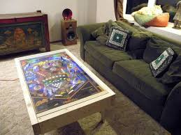 Gaming Coffee Table Pinball Machine Gets A Second As A Coffee Table