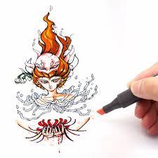 dainayw 12 colors sketch skin tones marker pen artist double