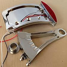 motorcycle license plate frame with led brake light amazon com motorcycle chromed curve license plate led tail brake