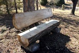 Rustic Log Benches - custom reclaimed wood outdoorlog bench seating