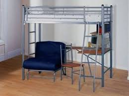 High Sleeper Bed With Futon High Sleeper With Desk And Futon Furniture Favourites