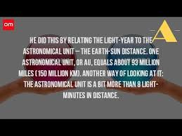 How Many Years In A Light Year How Many Light Years Is The Sun From The Earth Youtube