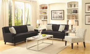 finley 2 piece sofa set in graphite linen fabric by coaster 504751 s