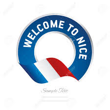 Welcome Flag Welcome To Nice France Flag Logo Icon Royalty Free Cliparts