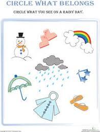 weather wear matching seasons worksheets preschool weather and