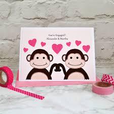 monkeys u0027 personalised engagement card by jenny arnott cards