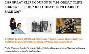 are haircuts still 7 99 at great clips 2016 great clips