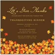 thanksgiving dinner invitation ideas cimvitation