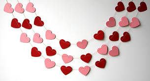 valentines day decor valentines day heart garland pink heart garland