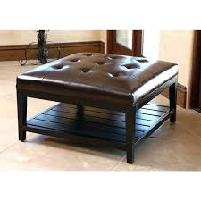 dark brown storage ottoman brown square ottoman living with table inside brown leather circle