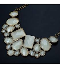 trendy gold chain necklace images Trendy gold plated green stones patterns pendant chain necklace jpg