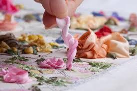 silk ribbon roses twirled ribbon di niekerk