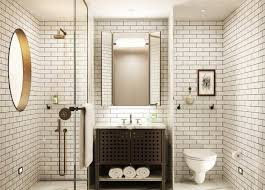 bathroom subway tile designs clean and crisp outlook is a courtesy of the white subway tiles that