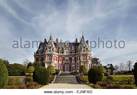 chateau style chateau impney hotel in style of chateau stock
