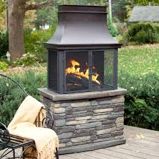 outdoor fireplace wood burning backyard and yard design for village