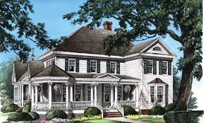 Dutch Colonial Home Plans Southern Plantation House Plans Luxury Colonial 055s 0001 Flo