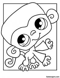 printable littlest pet shop coloring monkey printable