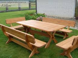 Building Outdoor Wood Table by Plans For Building Outdoor Furniture Projects To Try Pinterest