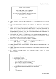 teacher u0027s worksheet
