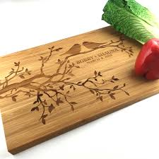 personalized cutting board wedding gift cutting board personalized wedding gift birds in a tree