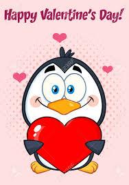 imagenes de amor con muñecos animados carácter de dibujos animados lindo del pingüino que sostiene el