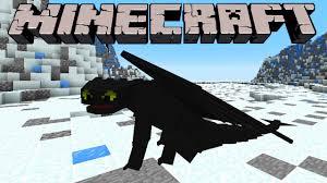 minecraft train dragon 2 toothless mod night fury