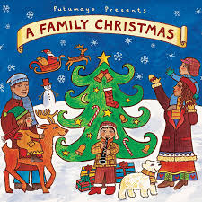 family christmas family christmas card with white lights and black background