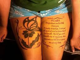 Quote Thigh - 25 marilyn quote tattoos