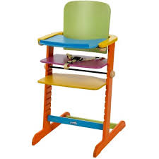 chaise haute volutive bois chaise haute évolutive family bois multicolore geuther