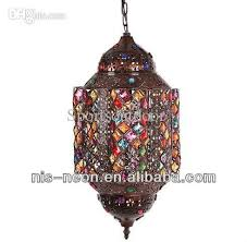 Moroccan Crystal Chandelier Discount Morocco Style Pendant Lamp Lantern Ns 124003 Multicolor