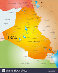 map of irak vector detailed map of iraq country stock photo royalty free