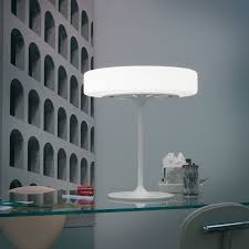 furniture round white glass bedside table lamps for modern