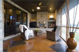 grilling porch the grilling porch of a one story ranch style home can be accessed