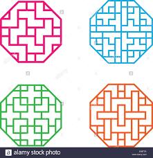 octagon logo stock photos octagon logo stock images alamy set of octagon korean pattern window frame vector stock image