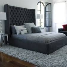 High Headboard Bed Contemporary Italian Grey Feature Bedroom Walls Search