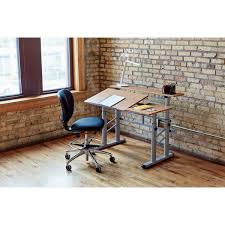Split Level Drafting Table Safco Height Adjustable Split Level Office Desk Drafting Table
