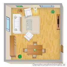layout ruangan rumah minimalis contoh posisi jendela pada layout ruang tamu denah desain rumah