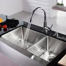 brass kitchen sink and faucet wall mount single handle side