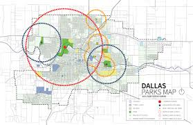 Dallas Neighborhood Map by Summary Dallas Parks Master Plan