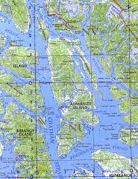 Hoonah Alaska Map by Northwest Explorer Admiralty Island 2004
