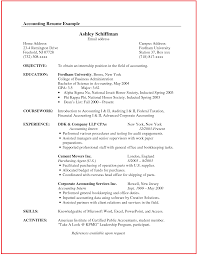 example of accountant resume template junior by mary saneme