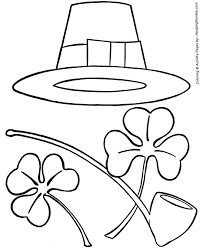 st patrick u0027s day coloring pages irish hat pipe and shamrocks