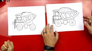 how to draw a dump truck art for kids hub