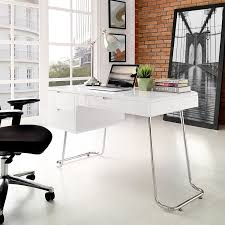 Modern White Office Table Amazon Com Modway Swing Office Desk White Kitchen U0026 Dining