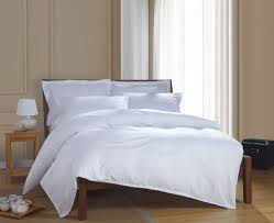 Hotel Quality Comforter 100 Cotton Simple Satin Strip White Hotel Bedding Sets Bed Linen