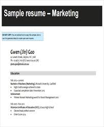 Marketing Resume Example by 50 Business Resume Examples Free U0026 Premium Templates