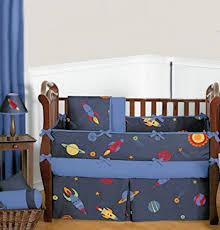 Rocket Ship Crib Bedding Outer Space Bedding For A Baby Rocket Ship Nursery Theme