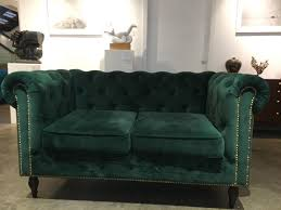 Two Seater Couch Dark Green Velvet Turquoise Two Seater Sofa Elegant Office