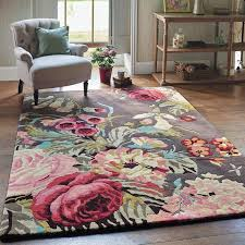 Laura Ashley Pink Rug Bedroom Pink Floral Area Rug Fraufleur Giving A Vibrant Look To